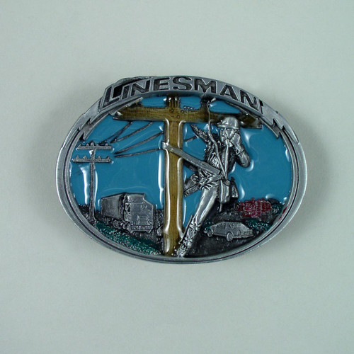 Linesman Belt Buckle Fits 1 1/2 Inch Wide Belt.