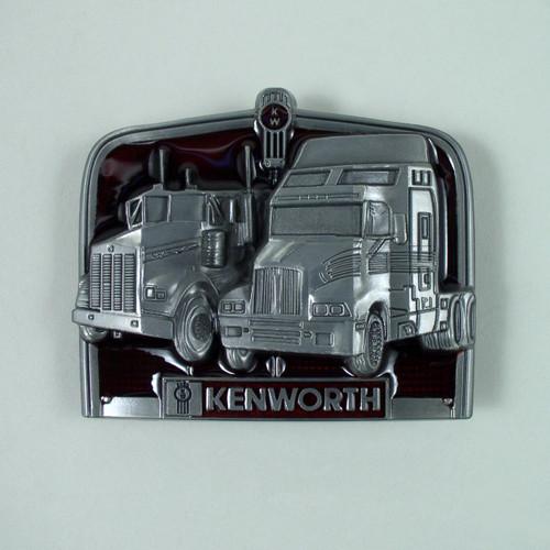 Kenworth Truck Belt Buckle Fits 1 1/2 Inch Wide Belt.