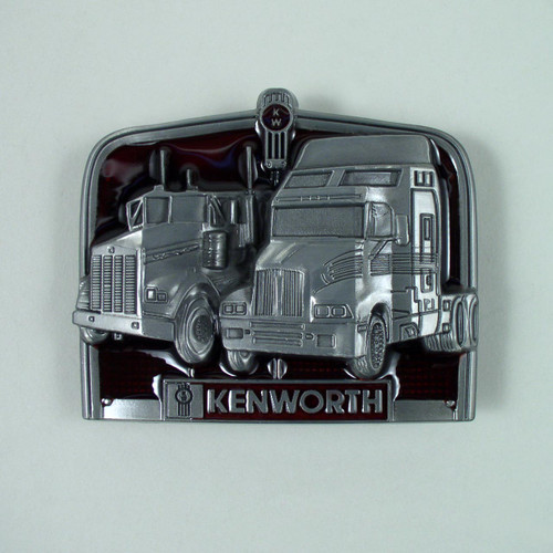 Kenworth Truck Belt Buckle Fits 1 1/2 Inch Wide Belt.
