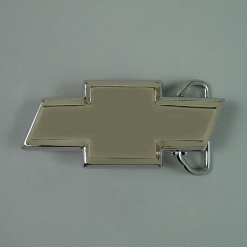 Chev Logo Belt Buckle (B) Fits 1 1/2 Inch Wide Belt.