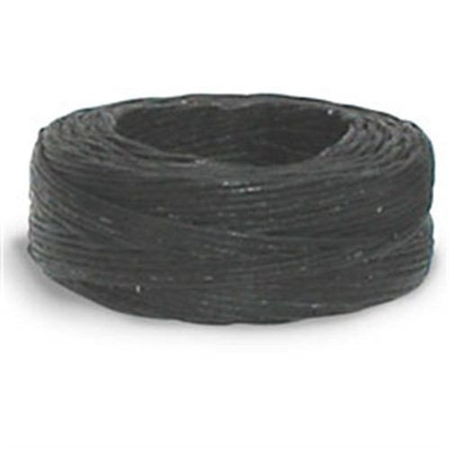 Black Waxed Linen Thread 25 yds