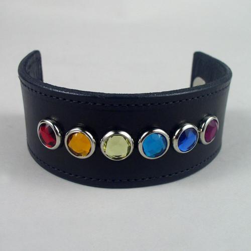"Rainbow Pride Wristband 1 1/2"" Wide"