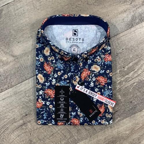 DESOTO Short Sleeve Flower Shirt 412 31-3