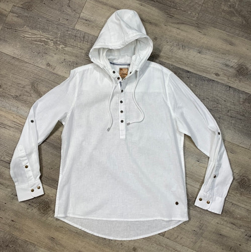 POINT ZERO  Long Sleeve Linen Hoodie 7454201 (JCC16380)