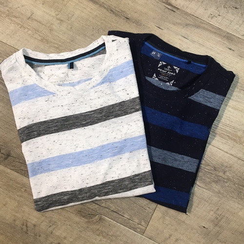 POINT ZERO   Short Sleeve Tee Stripe 7451205 (JCC16385)