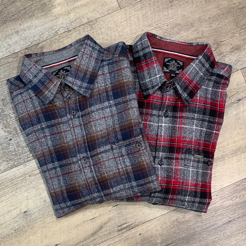 POINT ZERO  Long Sleeve Flannel  Shirt 7554564 (JCC16672)