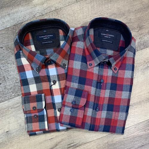 CASA MODA Long Sleeve Flannel Shirt 403505100 (JCC16588)