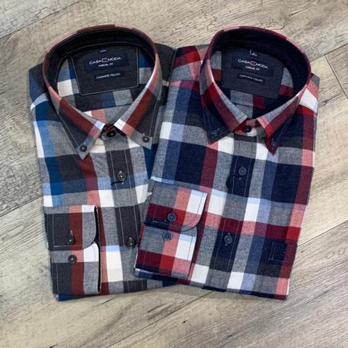 CASA MODA Long Sleeve Flannel Shirt 403504800 (JCC16587)
