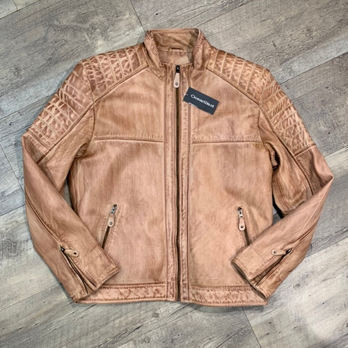 OCEAN WEST  Leather Jacket  4015X (JCC16046)