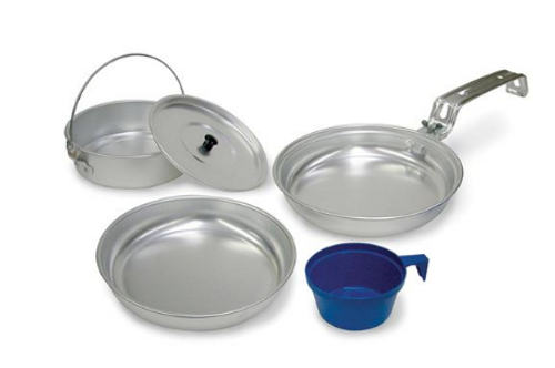 STANSPORT ALUMINUM MESS KIT - 1 PERSON
