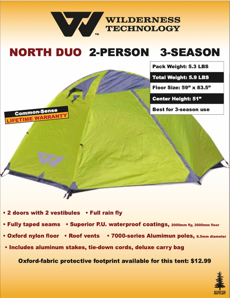 Wilderness Technology North Duo Tent