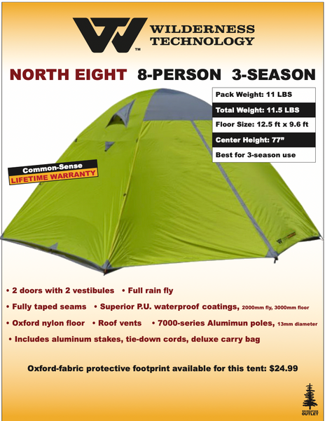 Wilderness Technology North Eight Tent