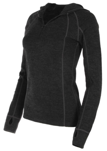 WILDERNESS TECHNOLOGY WOMEN'S MERINO 1/4 ZIP HOODIE
