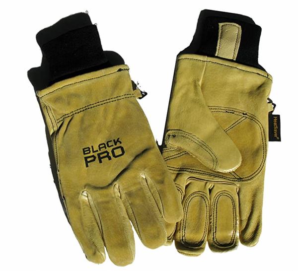Red Steer Pigskin Lined (Black Pro) Work Glove