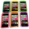 SIlicone iPhone Bumper Case Neon Colors Fits 4/4S 24 per display bx