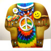 Med. Size Peace Sign Theme T-Shirt Style Gift Bag 8 per pk  .13 EACH