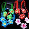 Triple Fimo Flower & Crystal Bead Cord Bracelet .56 ea
