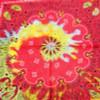 """21"""" Square 100% Cotton Tye Dye Pattern Bandana's .56 ea"""