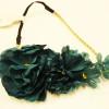 "7"" Wide Fall Color Flower Headbands w/ Elastic Back .54 ea"