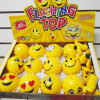 "3"" Rd Emoji Light & Sound Spinning Tops 12 per display bx $ 1.50 each"