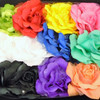"""6"""" 3 in 1 Silk Flower w/ Chiffon Gator Clip,Pony Oh, Pin Mixed Colors .54 each"""