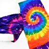 Carded Multifunctional Scarf/Headwear/ Mask 4 Color Tye Dye Mix   .66  ea