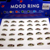 Colorful Asst Pattern Mood Rings 36 per counter display bx .60 each