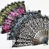 "9"" Animal Print Theme Hand Fans - Asst Colors .56 each"
