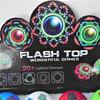 "3.5""  Spin Flashing Tops w/ Sound & Light LED Light Show  12 per bx $1.50"