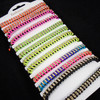 Colored Cord Fashion Bracelets Loaded w/ Clear Crystal Stones  12 per cd  .58 each