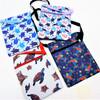 """5"""" X 7""""  Mixed Turtle Theme Zipper Side Bag w/ Strap  .62 ea"""