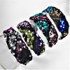 "1.5"" Wide Multi Color Sequin Fashion Headbands   .58 each"