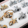 BEST BUY Gold & Silver Shell,Starfish,Cry. Stone Rings  36 per bx .20 each