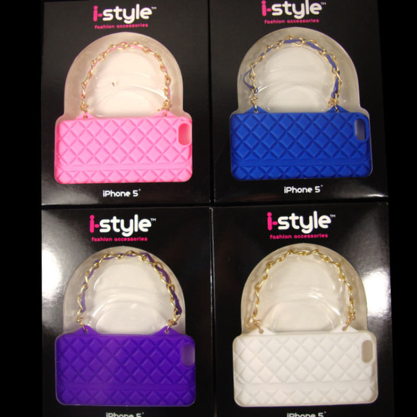 Silicone Channel Look iPhone Purse Case Fits i5 sold by dozen 6 colors