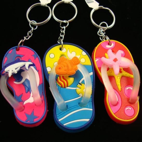 "2.5"" Flip Flop Tropical Theme Keychain .56 ea"