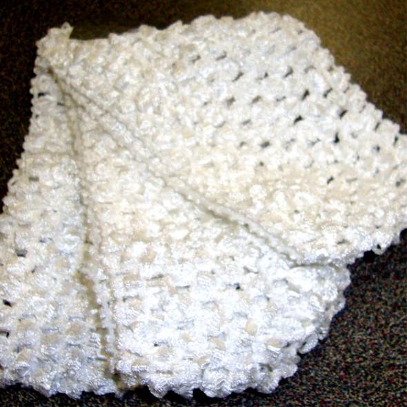"3 Pack 2.5"" All White Crochet Stretch Headwraps 12-3 pks per bag"