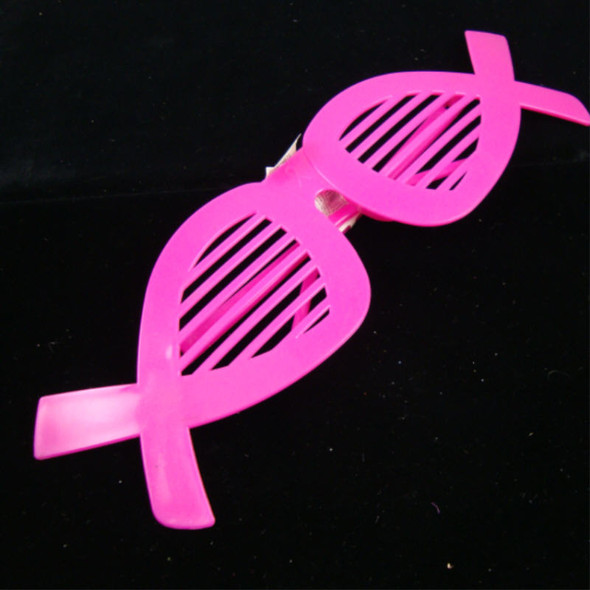 Pink Ribbon Shutter Shading Novelty Glasses 12 per pk .12 each