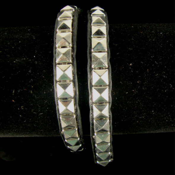 DBL Wrap Around Fashion Bracelet w/ Silver Studs .50