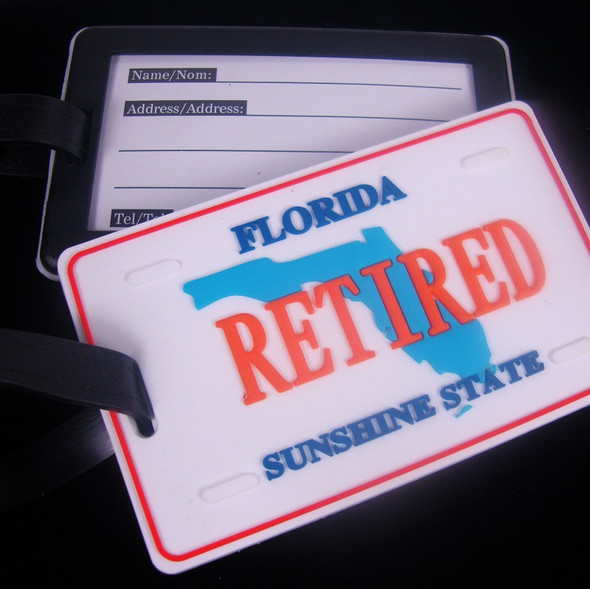 "2.5"" X 4"" Heavy Duty Retired Florida Luggage Tag 12 per pk .90 ea"
