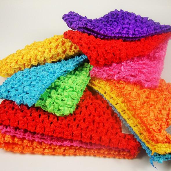 "3 Pack 2.5"" Crochet Headbands Asst Brights .52 per set"