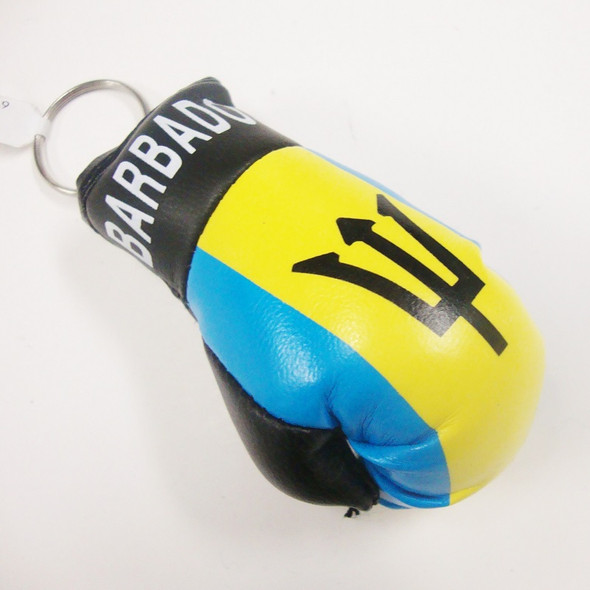 "3.5"" Barbados Flag Boxing Glove Keychain .54 ea"