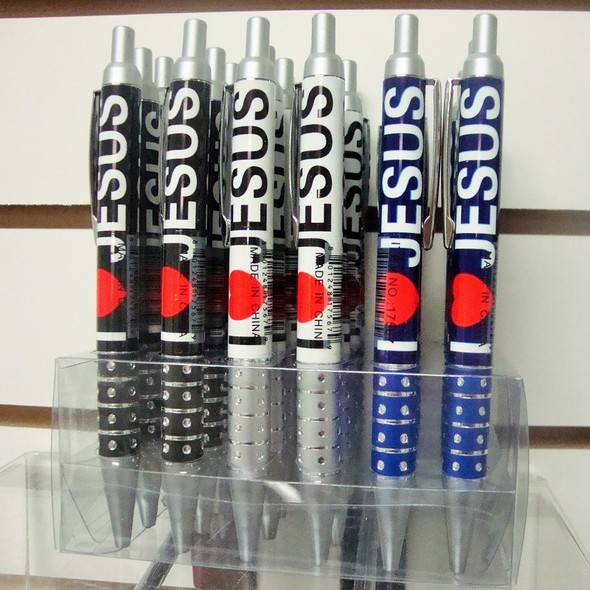 I Love Jesus Ball Point Pens 24 per display unit .45 each
