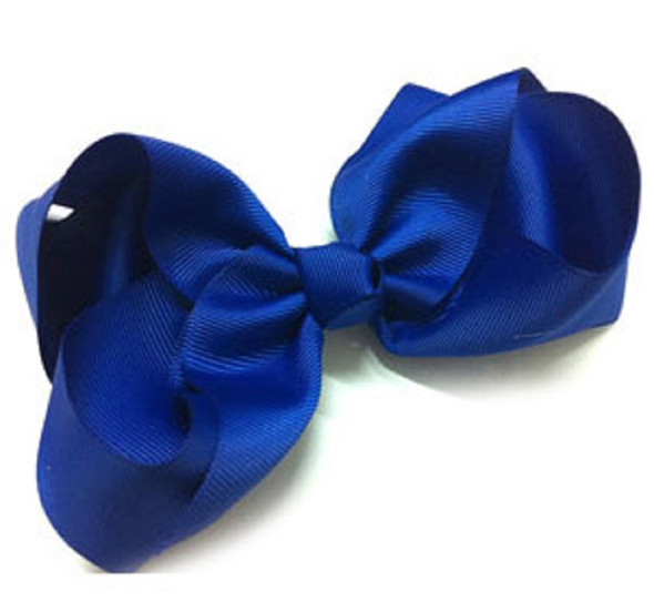 "6"" Royal Blue Color Gro Grain Gator Clip Bow .45 ea"