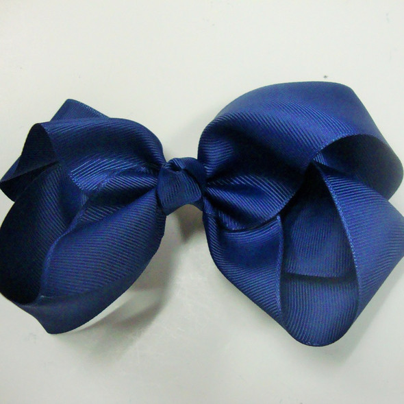 """Big Size 6"""" All Navy Blue Color Gator Clip Bows ONLY .45 ea"""