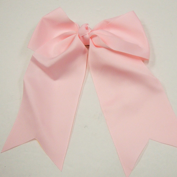 "6"" X 8"" All Lite Pink  Gator Clip Bow w/ Tails .54 ea"