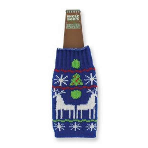 Ugly Sweater Knitted Beer Bottle Sweater 24 per display bx $ 1.50 ea