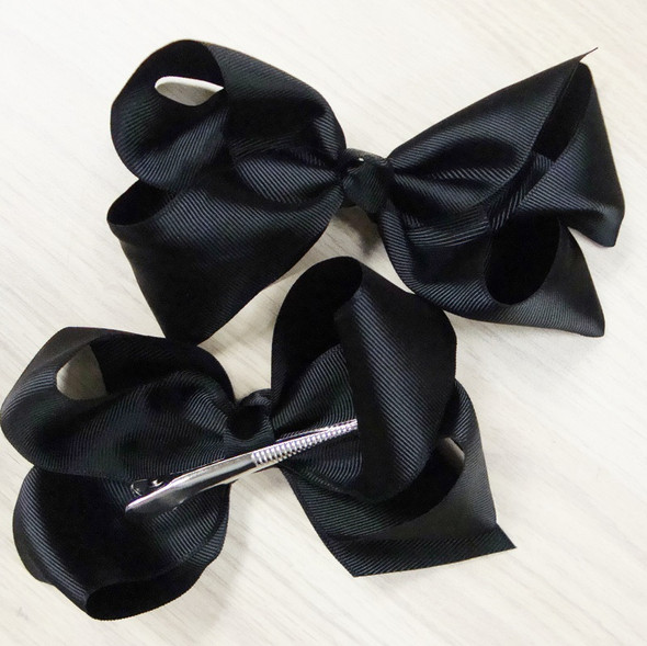 "6"" All Black Gator Clip Fashion Bow .45 ea"