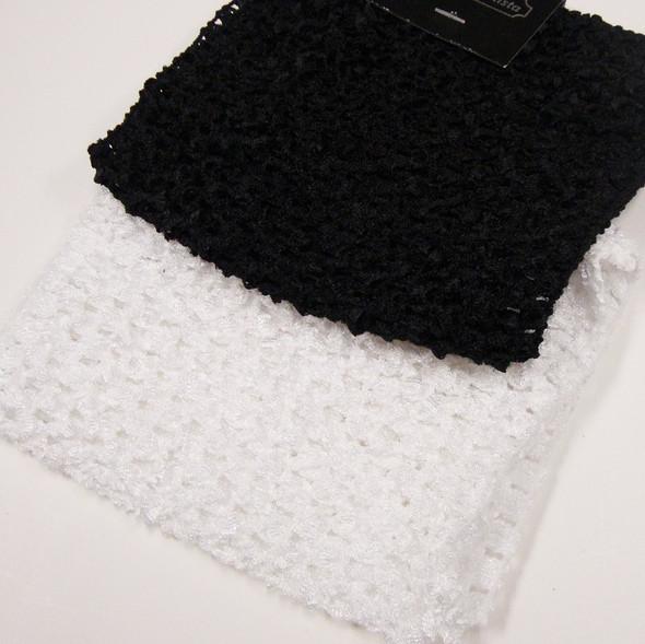 "5"" Blk & White Crochet Stretch Headwraps .42 ea"