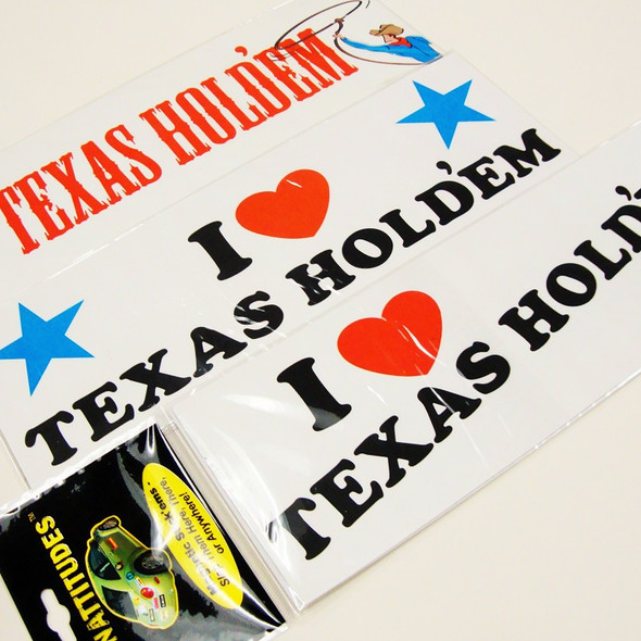 "3"" X 9"" Texas Holdem  Anywhere Magnets 12 per bx .33 ea"
