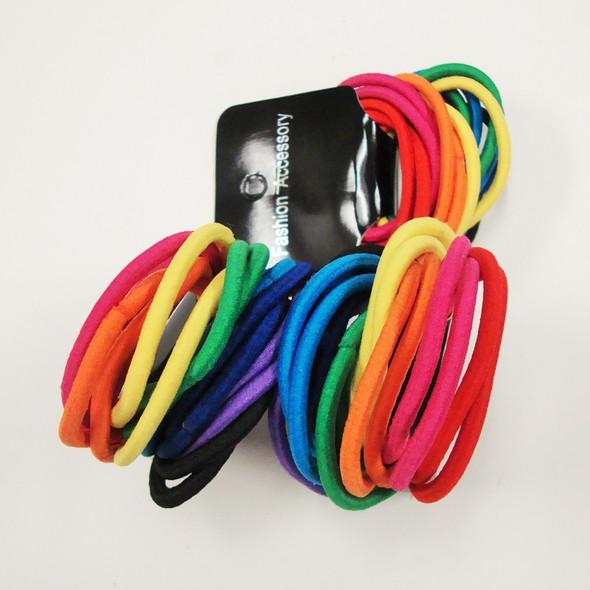18 Pack Asst Color Hair Elastic Ponytailers .60 per pk